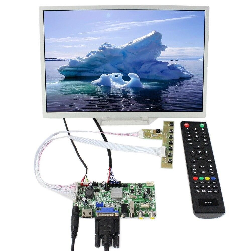 HDMI+VGA+AV+Audio USB LCD Controller Board 12.1inch 1280x800 LQ121K1LG52 LCD Screen 10 4inch vga av driver board 10 4inch 800 600 a104sn03 4 3 lcd panel touch screen touch screen usb controller