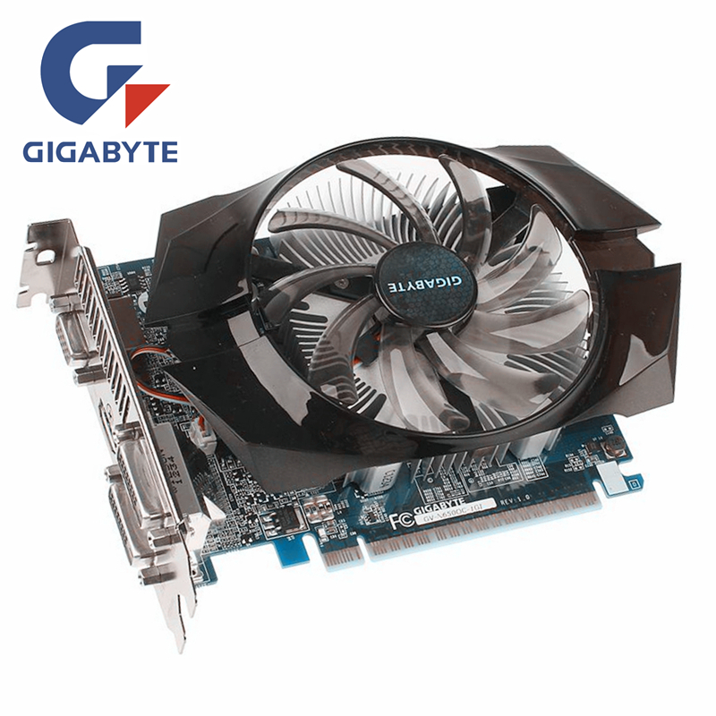 GIGABYTE GTX650 tarjeta de vídeo 1 GB 128Bit GDDR5 tarjetas gráficas para nVIDIA Geforce GTX 650 HDMI Dvi VGA utiliza tarjetas en venta N650