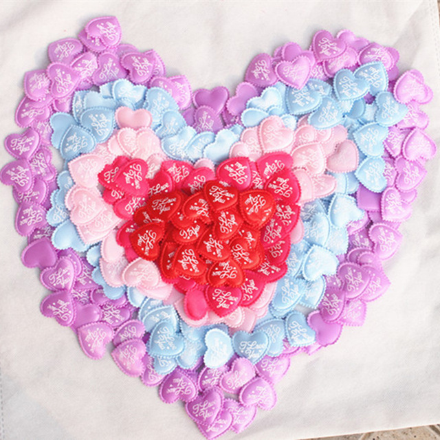 100pcs 3 5cm Heart Shaped Sponge Petals Satin Fabric Artificial Flower Petals Wedding Decor DIY Scatter Confetti DA in Party DIY Decorations from Home Garden