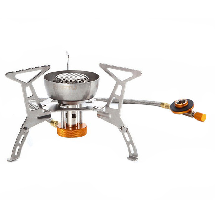 AOTU Fission Portable Stove Outdoor Camping Outside Picnic Wind Furnace Gas Furnace Stove Oven Furnace Head