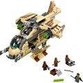 Nuevo 569 unids de las galaxias wookiee cañonera juguetes de los ladrillos bloques juego game boy arma avión compatible con lepin sluban decool legoelids