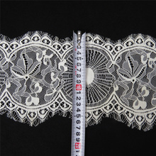 3Meters/Lot Eyelash Lace Ribbon Voile Width/17cm Embroidered Lace African Lace Fabric Sewing Wedding Dress Clothing Accessories 3meters embroidered eyelash lace ribbon black white wedding dress lace trim sewing width 9cm clothing accessories lace material