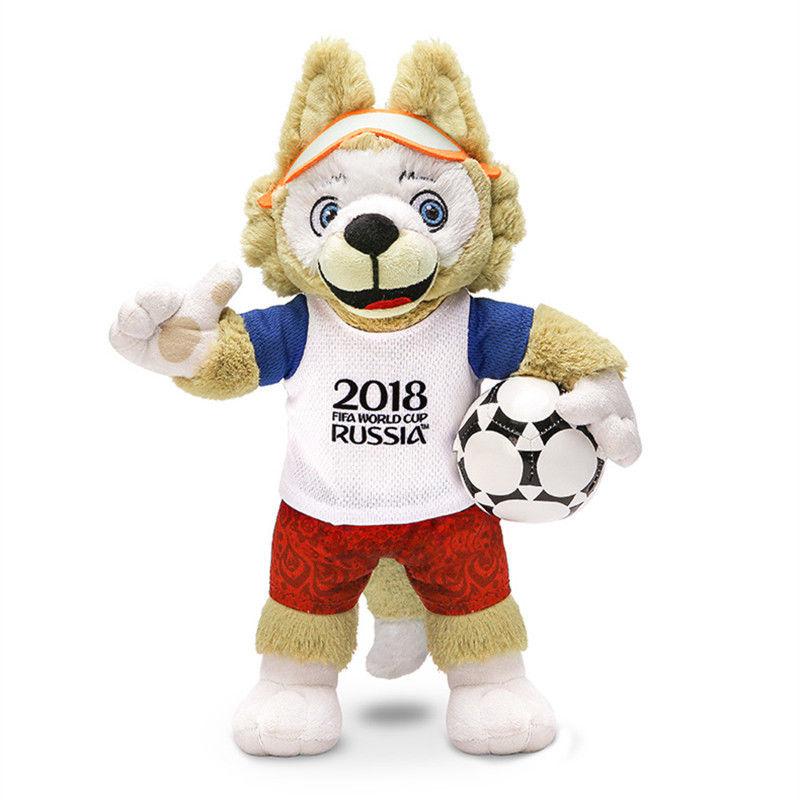 Russia Di Calcio Mascotte Zabivaka Calcio Lupo Peluche Regalo Del Giocattolo Anime Figure Da Collezione Model Toy
