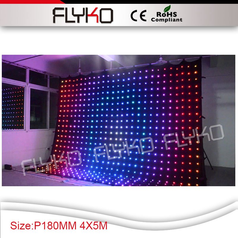 Aliexpress Led Wall Light: Free Shipping Cheapest Price P18 4x5m LED Curtain Wall