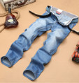 Free shipping2015 fashion mens Jeans Casual mens Regular 100%cotton Jeans men thin breathable Men Denim Jeans