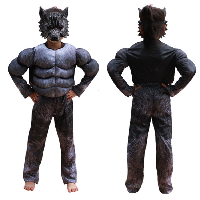 Adult Men/'s Wolf Man Wolverine Black Superhero Halloween Cosplay Costume Wig