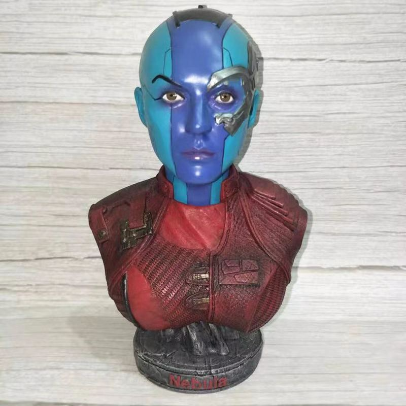 18CM Marvel Avengers Infinity War Nebula Figurine Dolls Toys Resin Statue Bust Action Figure Collectible Model Toy Kids Gift18CM Marvel Avengers Infinity War Nebula Figurine Dolls Toys Resin Statue Bust Action Figure Collectible Model Toy Kids Gift