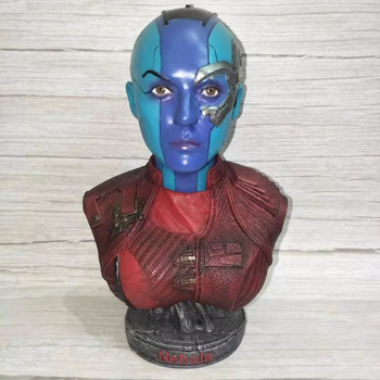 18CM Marvel Avengers Infinity War Nebula Figurine Dolls Toys Resin Statue Bust Action Figure Collectible Model Toy Kids Gift