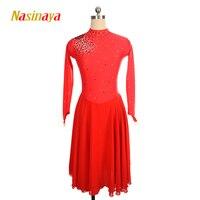 Nasinaya фигурное катание платье заказной конкурс Катание на коньках юбка для девочки Для женщин дети Patinaje гимнастика производительность 66