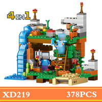 378pcs 4 In 1 Compatible Minecrafted City Figures Building Blocks Mine World DIY Garden Bricks Blocks