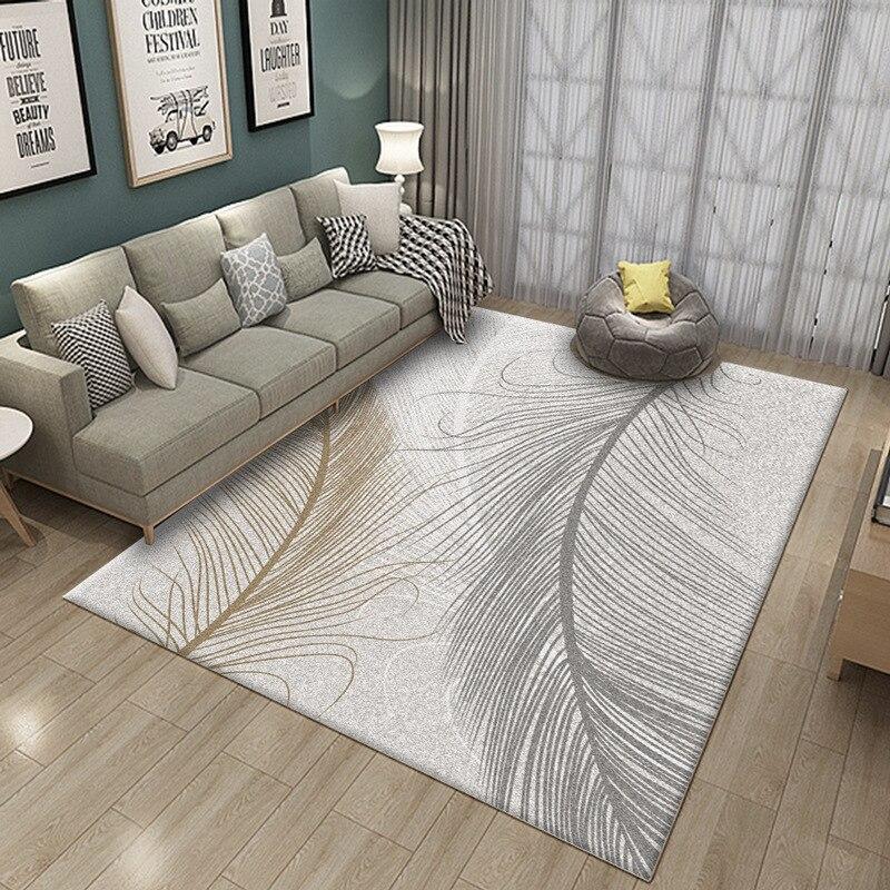 Nordic Style Feather Large Size Carpet Bedroom Rug Non-slip Carpets For Living Room Super Soft Door Mat HNJ#475(China)