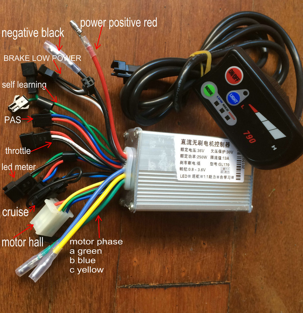 24v36V48V250W-1000w controller and LED display for electric bike scooter motorcycle 790 with light indicator conversion parts 1200w electric scooter electric motorcycle electric bike eagle