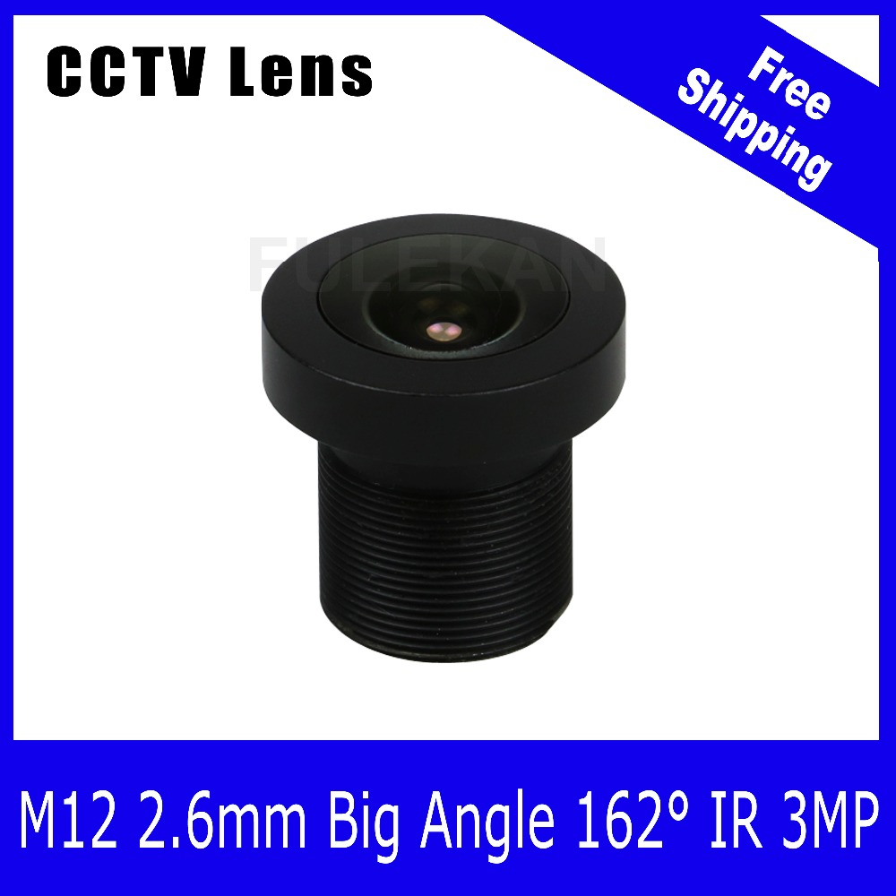 3Megapixel Fixed 1 2 7 inch 160 Wide angle Lens 2 6mm For 720P 1080P 3MP