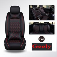 Easy to Clean PU Leather Car Seat Cushions seats Full Set Anti Slip Covers For Geely Emgrandgt Gx7 Gc7 Ec7 Rs Gc213 Rv