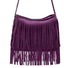 High qualtiy Vintage Faux Suede Fringe WomenTassle Shoulder bag Lady Handbag Woman Crossbody Bag
