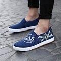 2016 весна холст мужской обуви чистка новый Zapatos хомбре мужская мода круглая голова Zapatos свободного покроя человек туфли-casual - на выход фабрики ботинки