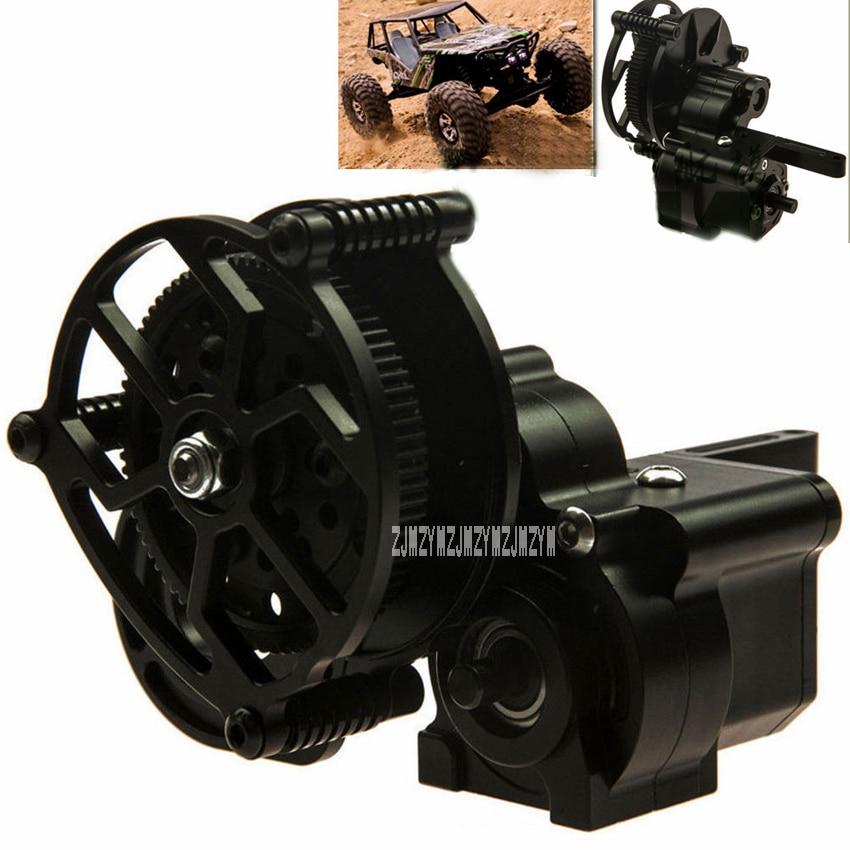 New Hot Black 90018 90020 Upgrade Medium Wave Box Simulation Climbing Car Aluminum Alloy Transmission Case Gear Box Steel Gears бак walcom 90018