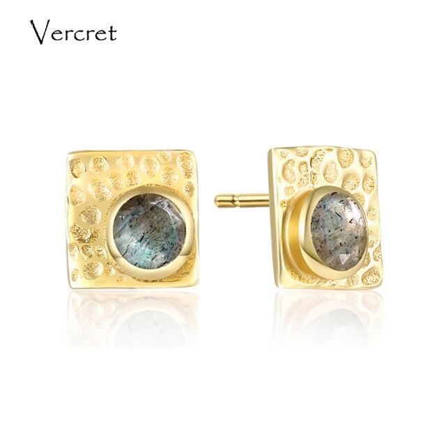 Vercret 925 sterling silver labradorite earrings romantic 18k gold earrings jewelry for women sp