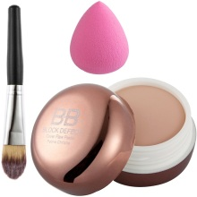 Makeup Set Combo Face BB Cream Camouflage Concealer with Foundation Brush Waterdrop Powder Puff Cosmetics Kit
