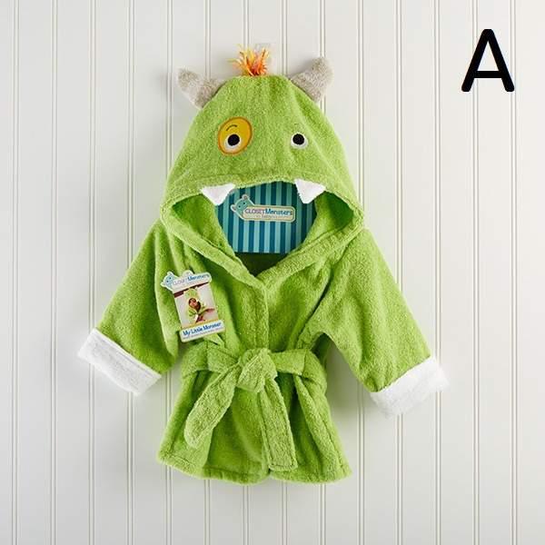 ab23a06190 Online Shop Super soft 100% cotton baby bathrobe animal character hooded  baby bath robe hooded kids bathrobes cotton bath towels children