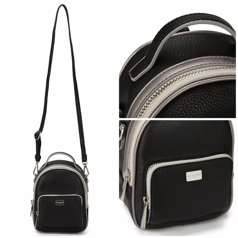 DAVIDJONES Shoulder Bags Women Backpack Bag Fashion School Bags For Girls Top-handle Backpack PU Versatile Bags For Women