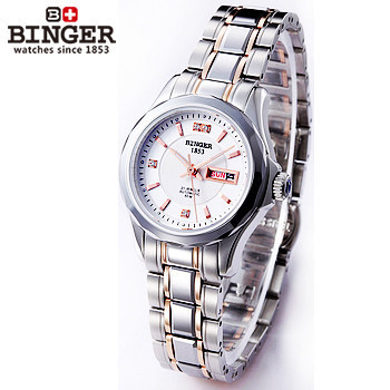 Hot Selling New Style Women Dress Watches Womans Rhinestone Automatic Wristwatch Dual Date Table Brand Logo