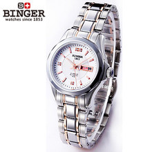 Hot Selling New Style Women Dress Watches Womans Rhinestone Automatic Wristwatch  Dual Date Table Brand Logo Watch 4 Colors