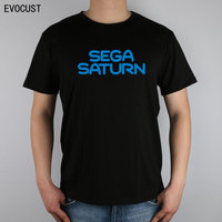 Sega Saturn Logo T-Shirt Top Lycra Cotone maglietta Degli Uomini
