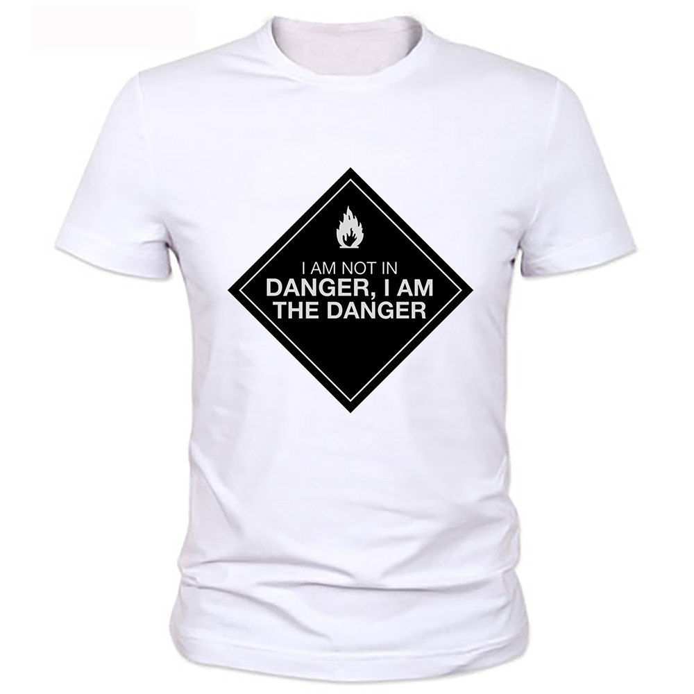 b8fd440f Cheap Mens Graphic Tees Crew Neck Short Sleeve Best Friend Breakin Bad  Heisenberg I am danger Walter White Funny Joke Men -in T-Shirts from Men's  Clothing ...