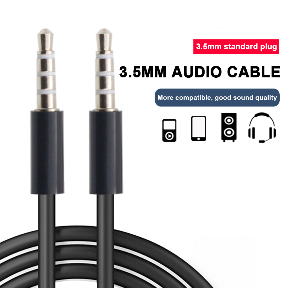 4X 5FT 3.5MM MALE JACK AUX STEREO CABLE CORD IPAD IPHONE IPOD TOUCH MP3 CD WHITE
