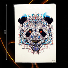 1PC Cool Mechanical Bear Beast Pattern Waterproof Tattoo Sleeve Body Chest Art Tempoary Tattoo Sticker Men Women Fake Tatoo B472