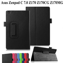 Litchi PU Leather Case For Asus Zenpad C 7.0 Z170 Z170CG Z170MG 7.0 inch stand c
