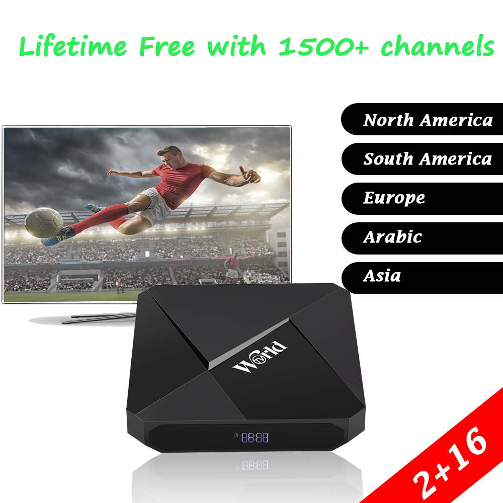 купить 2018 Cheapest Arabic IPTV Box Free Forever Arabic Italia Brasil France Spain Asia 1400+ Channels Lifetime Free IPTV Subscription по цене 6605.28 рублей