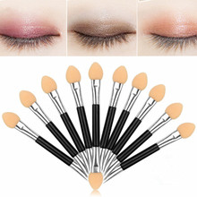 10pcs/set Cosmetic Makeup Double-end Eye Shadow Eyeliner Brush Sponge Applicator Tool for Women Lady Beauty
