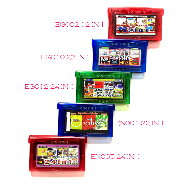 EN EG Super All in 1 Series No Repeat 12 23 24 22 in 1 Save Forever Cartridge Card for 32 Bit Video Game Console Accessories