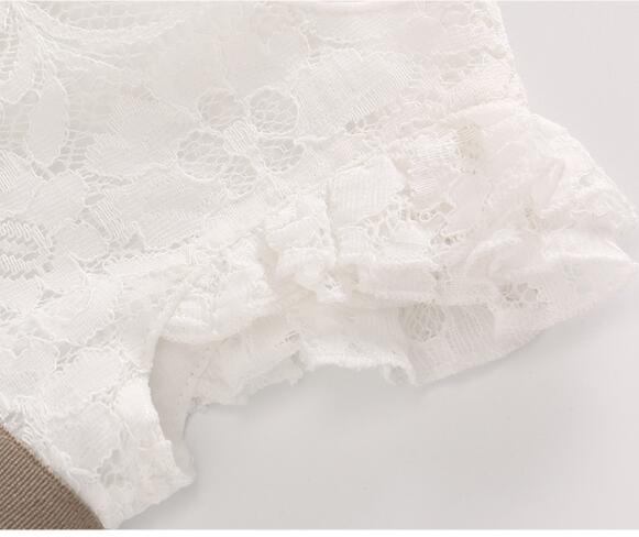 Baby 1st Birthday Dress Koronkowa księżniczka Party Białe sukienki - Odzież dla niemowląt - Zdjęcie 4