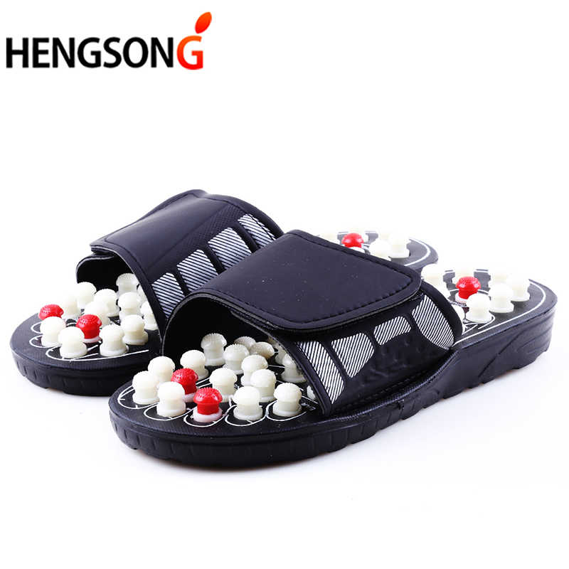 3153569dbe4f Acupoint Massage Slippers Sandal For Men Feet Chinese Acupressure Therapy  Medical Rotating Foot Massager Shoes Unisex