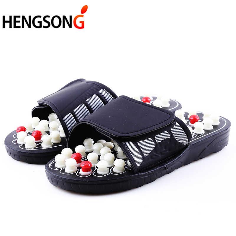 04e4c4f14a901 Acupoint массажные тапочки сандалии для Для мужчин ноги китайской  акупрессуры терапии медицинские вращающихся массажер для ног