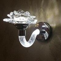 Новый LED кристалл настенный светильник современный китайский проход бра Элегантный Античная Кристалл осветила Освещение приспособление с