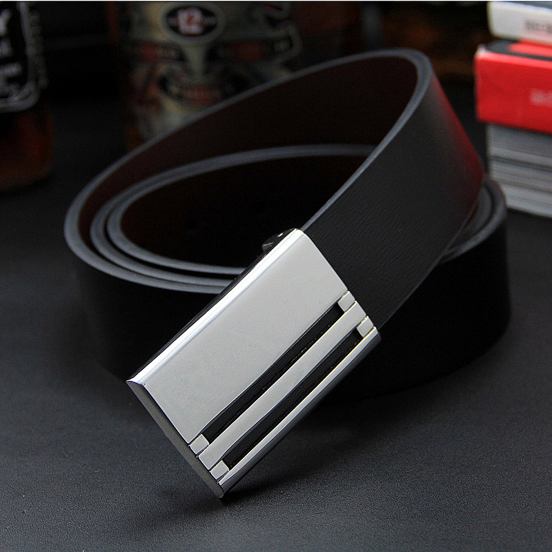 2018 Men's real leather   belt   male genuine leather   belt   men cowskin   belt   for Suit gentleman style Trousers Strap