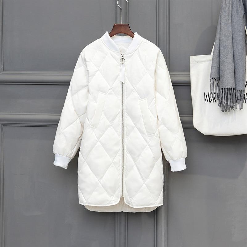 2018 New Women White Duck   Down   Jacket Parka Autumn Winter Thin Ultra Light   Down     Coat   Ladies Warm Midi Long   Coats   Outerwear A1104