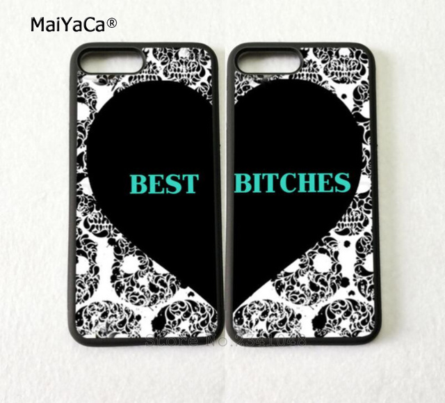 the latest 09bcb 0ccff US $4.38 |heart pair matching best friends forever soft silicone mobile  phone cases for iPhone 5s se 6 6s plus 7 7plus 8 8plus X XR XS MAX-in ...