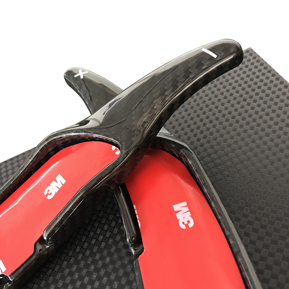 race car steering wheel paddle shift extension real carbon fiber for AMG A45 C63 CLS63 C65