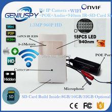 POE 960P Wifi Night Vision 940NM Mini IP Camera Security Camera Indoor Security CCTV Mini IP TF Camera Wifi POE Audio P2P ONVIF