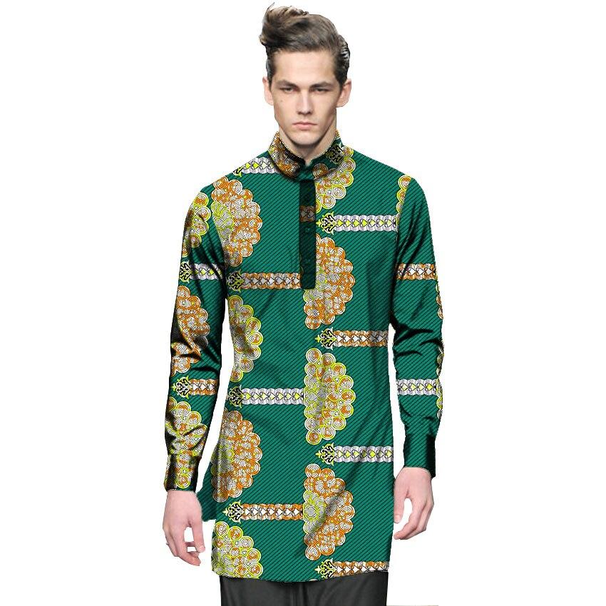 fashion mens dashiki clothes mens shirt personal