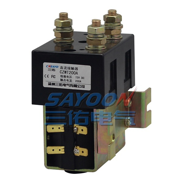 SAYOON DC 12V contactor CZWT200A , contactor with switching phase, small volume, large load capacity, long service life. sayoon dc 6v contactor czwt150a contactor with switching phase small volume large load capacity long service life