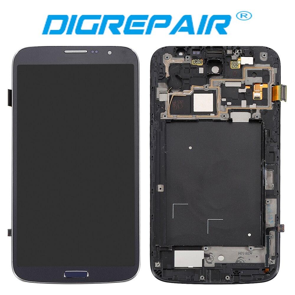 """imágenes para 6.4 """"Negro Para Samsung Galaxy i9205 i9200 6.3 Mega Pantalla LCD Asamblea Digitalizador de Pantalla Táctil con el Marco Del Bisel Completo"""