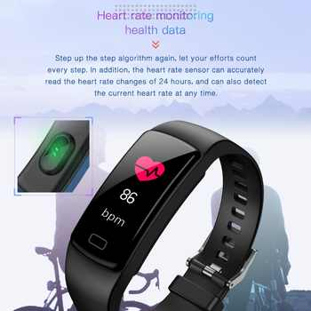 New Women Color Screen Smart watch For IOS Android Phone Sport Fitness tracker Pedometer Heart Rate Blood Pressure Watches