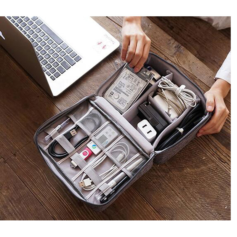 Portable Digital Storage Bags Travel Organizer For USB Gadgets Cables Wires Charger Power Battery Waterproof Travel Accessories