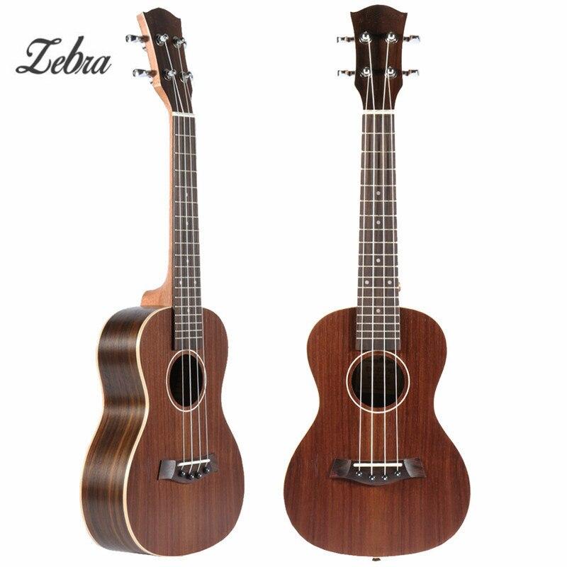 Zèbre 23 ''4 cordes Fretboard Concert ukulélé Ukelele guitare basse électrique Guitarra pour les amateurs d'instruments à cordes musicales